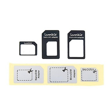 4 in 1 nano sim kaart adapter en micro sim adapter met eject pin sleutel voor iphone 6 6 plus. Black Bedroom Furniture Sets. Home Design Ideas