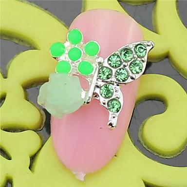 10st sh405 speciale ontwerp groene strass 3d legering nail art diy nagel schoonheid nagel - Decoratie murale ontwerp salon ...