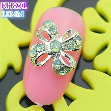 10st rh831 speciale ontwerp bowtie luxe strass 3d legering nail art diy nagel schoonheid nagel - Decoratie murale ontwerp salon ...