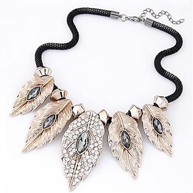 Европейские и американские моды Темперамент Set оже преувеличены Листья ожерелье