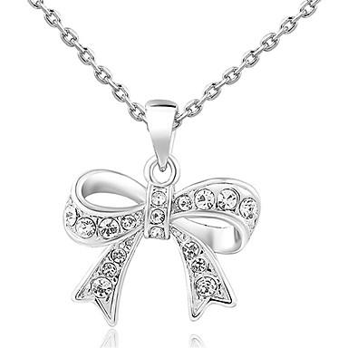 RoxiFashion Exquisite Bowknot Silber-Legierung Anhänger Halskette (1 St.)