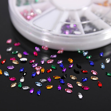 600PCS Colorful Marquis Zirconia Flatback Acrylic Gems Handmade DIY Craft Material