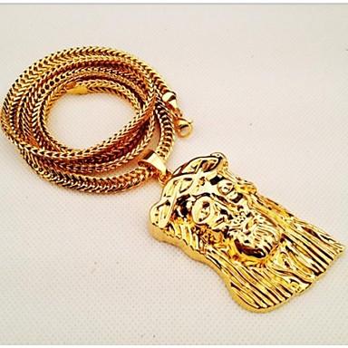 Iced Out Vergoldet JESUS Kopfstück-hängende Kette HipHop-Stil Geschenk