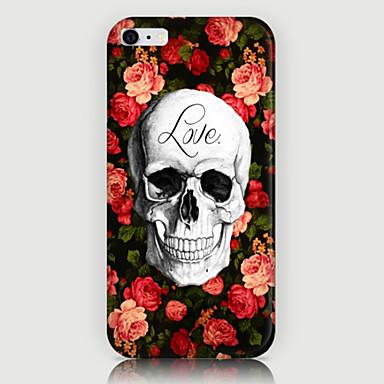 Roses Schädel-Muster zurück Fall für iPhone 6 Plus