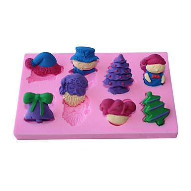 Christmas Cake Decoration Molds : Christmas Series Shape Fondant Mold Cake Decoration Mold ...