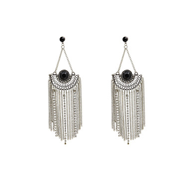 Fashion Women Vintage Chain Tassel Drop Earrings