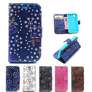 Peacock Pattern PU Leather Full Body Cases Phone Protective Cover with Card Bag for Wiko Goa