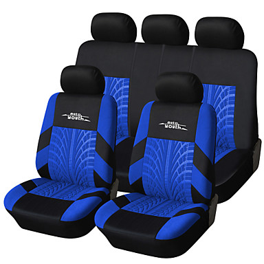 AUTOYOUTH Brand Embroidery Car Seat Cover Set Universal Fit Most Cars Covers with Tire Track Detail Styling Car Seat