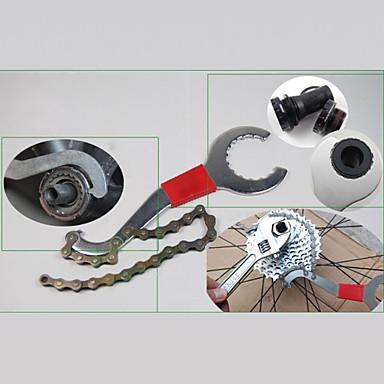 3 in 1 Carbon Steel Wrench Radfahren Reparatur-Werkzeug-Fahrrad-Schwungrad Kettendemontage Achse Wrench