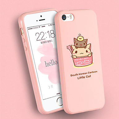 Para funda iphone 5 dise os funda cubierta trasera funda gato suave silicona iphone se 5s 5 - Fundas iphone silicona ...