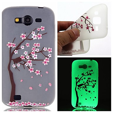 Samsung Galaxy Case Glow Dark / Pattern Back Cover Flower TPU SamsungOn 7 5 J3 J1 Ace Grand Prime