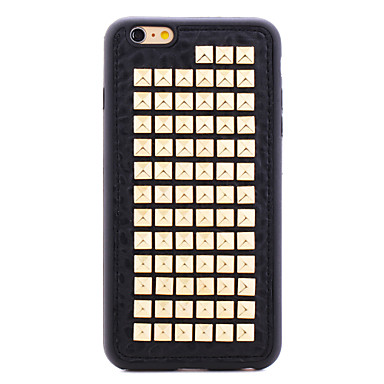 Rivet Leather Series Golden Squares TPU Soft Back Cover for iPhone 6S Plus/6 Plus