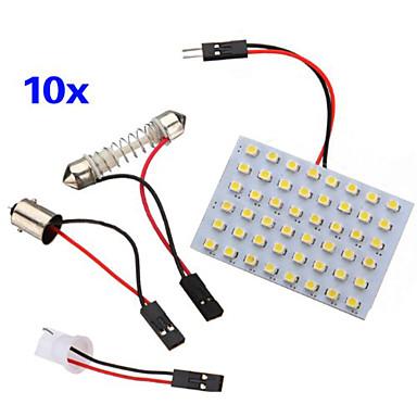 10 stuks 3528 smd led paneel 48 warm wit led licht t10 for Led autolampen
