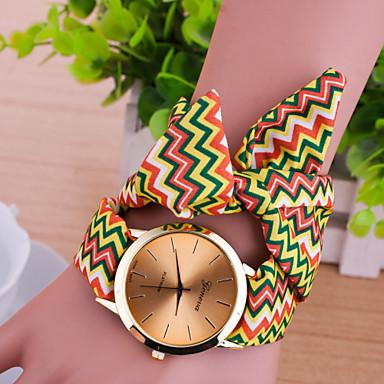 Women Korean Fashion Personality Wavy Fabric Belt Bracelet Watch Cool Watches Unique