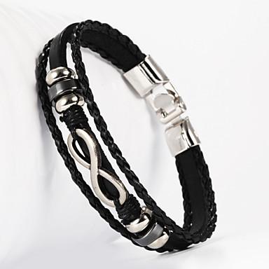 Infinity-8-Form-PU-Armband der Männer