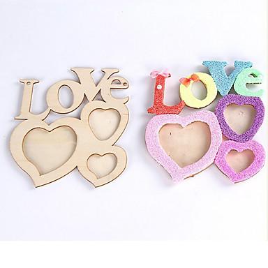 romatic lettres d 39 amour creux cadre photo en bois diy cadre photo art d co de 4968175 2017. Black Bedroom Furniture Sets. Home Design Ideas