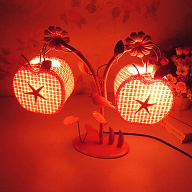 Kreative to eple lampe soverom nattbordlampe belysning lamper av ...