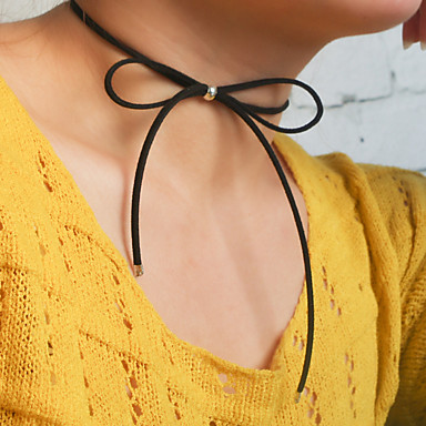 Necklace Choker Necklaces / Layered Jewelry Party Daily Casual Fashionable Vintage Flannelette Black 1pc Gift