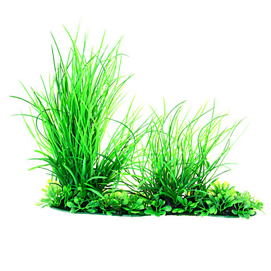Artificial Simulation Plant Grass Fish Tank Aquarium Ornament Blue Green