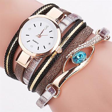 Women's Fashion Watch Wrist watch Bracelet Quartz Colorful PU Band Vintage Sparkle Dot Rainbow Bohemian Charm Bangle Casual Cool