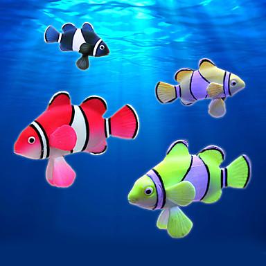 D coration d 39 aquarium poisson artificiel noctilumineux for Poisson rouge artificiel