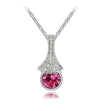Women's Pendant Necklaces Crystal Chrome Euramerican Fashion Simple Style Jewelry For Wedding Party Birthday Congratulations 1pc