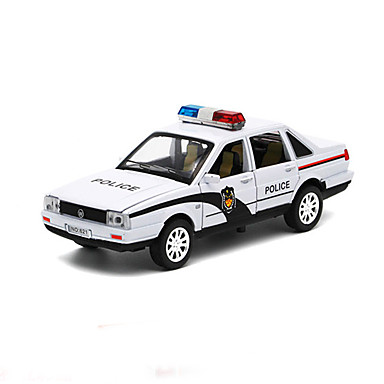 voiture de police v hicules friction arri re jouets de voiture 01h32 m tal bleu maquette jeu. Black Bedroom Furniture Sets. Home Design Ideas