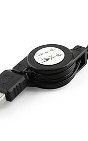 Cavo USB retraibile di USB A a Mini 5-pin