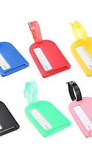 etiqueta de bagagem de plástico (cores sortidas)