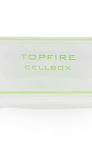 water-proof plastic doorzichtige case voor de batterij 18650,16340 batterij (wit)