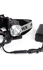 LED - Cykling - LED Lommelygter / Hovedlygter 3 Tilstand 1200 Lumens Cree XM-L T6 AC-oplader Andre