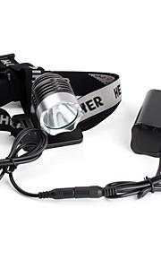Lanternas LED / Lâmpadas Frontais LED 3 Modo 1200 Lumens Cree XM-L T6 Ciclismo - Outros , Preto Liga de Aluminio