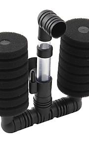 baixo nível de ruído aquário de água filtro de esponja dupla (15cm x 14cm x 5cm)