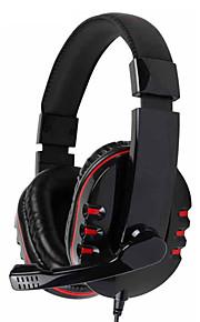 kanen km-790 auriculares de 3,5 mm estéreo sobre la oreja con micrófono para PC (colores surtidos)