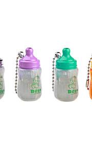 fodring-flaske form vindtæt nøglering butan lighter (tilfældig farve)