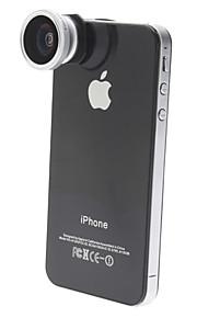 Lente Olho de Peixe 180Graus para iPhone 4, iPhone 5 e Novo iPad