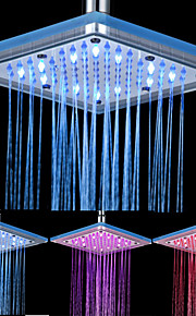 8-tommers 12-LED Square akryl Ceiling Shower Head (Assorterte farger)