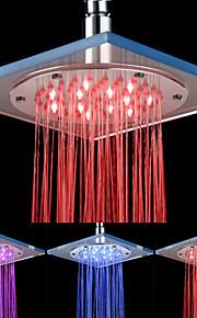 8-tommers 12-LED akryl tak Shower Head (Assorterte farger)