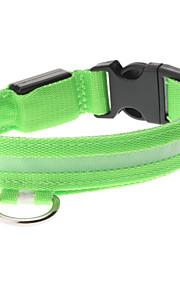 Einstellbare High Quality Nylon LED-Halsband für Hunde (Green)