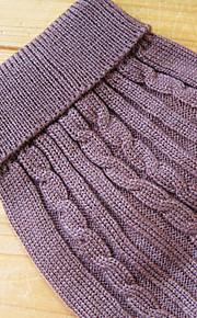 Hunde / Katzen Pullover Braun Winter einfarbig