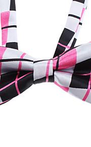 Simple del patrón del cheque Bowknot corbata para Mascotas Perros Gatos (cuello: 26-38cm)