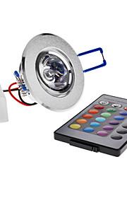 3W Taklys Innfelt retropassform 1 Høyeffekts-LED 180 lm RGB Fjernstyrt AC 85-265 V