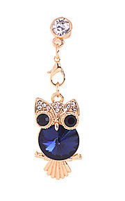 Crystal Owl Alloy Chain Zircon Anti-støv Plug (assorterte farger)