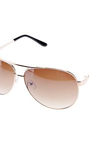 Unisex Gradient Brown Lens Brun Frame Aviator solbriller