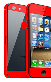 Solid Color Skin Guard with Black Back Protector for iPhone 5 (Optional Colors)