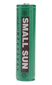 Små Sun 18650 3.7V 2400mAh genopladelige Li-ion-batterier