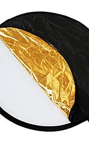 """24 """"5-em-1 Luz Mulit dobrável do refletor disco 60 centímetros"""