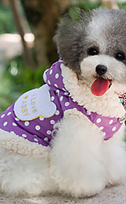 Dog Coat Purple / Pink Dog Clothes Spring/Fall Polka Dots