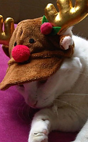 Lovely Christmas Deer Shaped Hat for Pets Dogs Cats (Assorted Sizes)