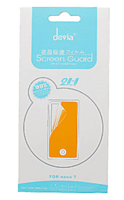 DEVIA Plus de 99% de transparence Crystal Clear Screen Guard avec Tissu microfibre pour iPod nano 7